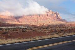 亚利桑那峭壁北朱红色 库存图片