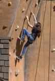 亚利桑那新生节日岩石墙壁上升 库存图片