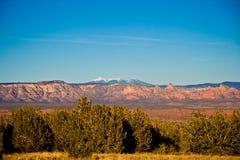 亚利桑那横向山 免版税库存图片