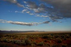 亚利桑那沙漠土地Scape日落 免版税库存照片