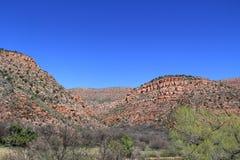 亚利桑那沙漠场面 图库摄影