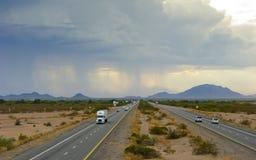 亚利桑那沙漠尘暴 图库摄影
