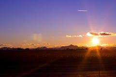 亚利桑那沙漠山 免版税库存照片