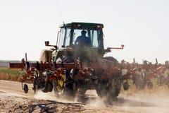 亚利桑那沙漠干燥多灰尘种田 免版税库存图片