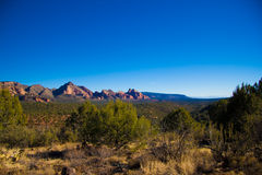 亚利桑那沙漠横向 图库摄影