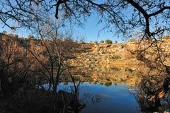 亚利桑那沙漠湖 库存图片