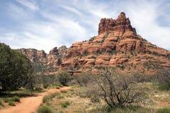 亚利桑那沙漠通配西部山的sedona 免版税库存照片