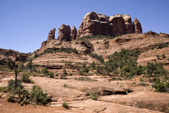 亚利桑那沙漠通配西部山的sedona 免版税库存图片
