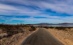亚利桑那沙漠风景,火方式谷  库存图片