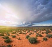 亚利桑那沙漠风暴Aproaching 图库摄影