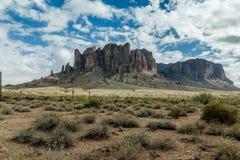 亚利桑那的沙漠风景的不同的秀丽 免版税库存图片
