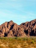 亚利桑那福利码头野营的风景,桃红色紫金山范围 库存照片