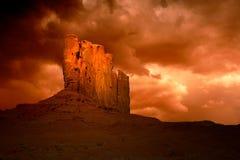 亚利桑那纪念碑邪恶风暴的谷 免版税库存照片