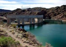 亚利桑那边界加利福尼亚水坝parker 库存图片