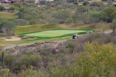 亚利桑那高尔夫球场 免版税库存照片