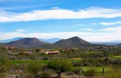 亚利桑那高尔夫球场 免版税图库摄影