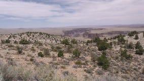 亚利桑那,一点科罗拉多峡谷,从远方A放大在小的科罗拉多峡谷 股票录像