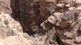 亚利桑那,一点科罗拉多峡谷,几更多岩层在小的科罗拉多狼吞虎咽 影视素材