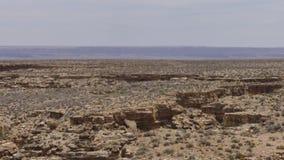 亚利桑那,一点科罗拉多峡谷,小的科罗拉多峡谷切口的A视图横跨土地的 股票视频