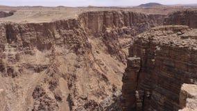 亚利桑那,一点科罗拉多峡谷, A放大在小的科罗拉多峡谷的里面 股票视频