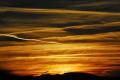 亚利桑那,氯化物,美国壮丽落日 图库摄影
