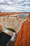 亚利桑那水坝幽谷页 库存照片