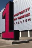 亚利桑那主教橄榄球nfl体育场 库存图片