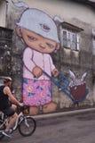 亚历克斯面对-泰国街道艺术-普吉岛 图库摄影