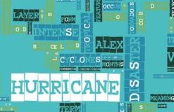 亚历克斯飓风 免版税库存图片