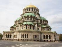 亚历山大・保加利亚大教堂nevsky索非亚 库存图片