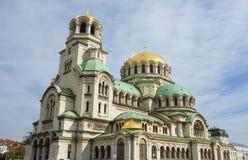 亚历山大・保加利亚大教堂nevsky索非亚 图库摄影
