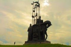亚历山大・涅夫斯基纪念碑 普斯克夫俄国 免版税库存照片
