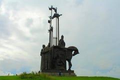 亚历山大・涅夫斯基纪念碑 普斯克夫俄国 库存照片