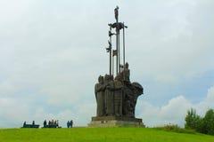 亚历山大・涅夫斯基纪念碑 普斯克夫俄国 库存图片