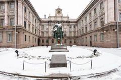 亚历山大三世的纪念碑在围场大理石宫殿 免版税库存照片