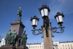 亚历山大二世纪念碑(1894),参议院正方形,赫尔辛基 库存照片