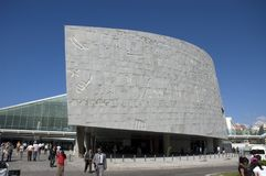 亚历山大埃及图书馆旅行 免版税库存照片