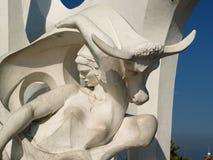 亚历山大埃及无罪雕塑 库存照片