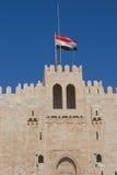 亚历山大城堡qaitbay的埃及 免版税库存图片