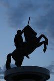 亚历山大大帝纪念碑在斯科普里,马其顿 库存图片