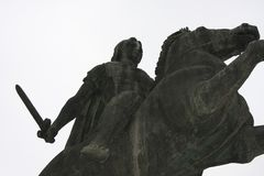 亚历山大大帝雕象塞萨罗尼基市的在希腊 库存图片