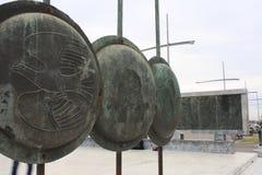 亚历山大大帝雕象塞萨罗尼基市的在希腊 库存照片