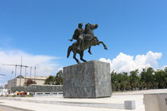 亚历山大大帝,塞萨罗尼基,希腊雕象  库存图片