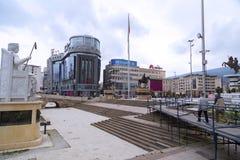 亚历山大大帝,斯科普里的纪念碑 免版税库存照片