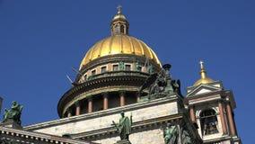 亚历山大大教堂庭院isaac ・彼得斯堡s参议院正方形st 4K 股票录像