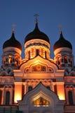 亚历山大大教堂nevsky塔林 库存照片
