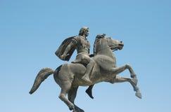 亚历山大帝雕象在塞萨罗尼基 免版税库存照片