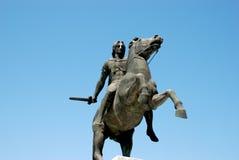 亚历山大帝雕象在塞萨罗尼基 图库摄影