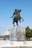 亚历山大帝雕象在塞萨罗尼基 免版税库存图片
