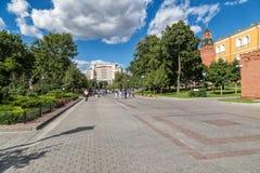 亚历山大庭院在莫斯科 库存照片
